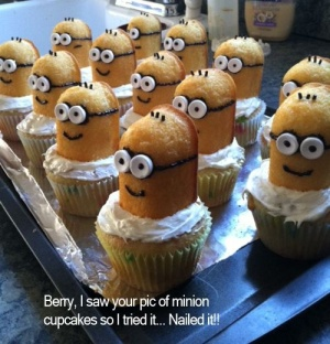"""alt=""""despicable me cupcakes"""", alt=""""minion cupcakes"""", alt=""""pinterest cupcakes"""""""
