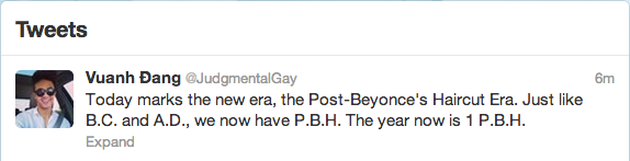 "alt=""judgemental gay"", alt=""beyonce got a hair cut"""