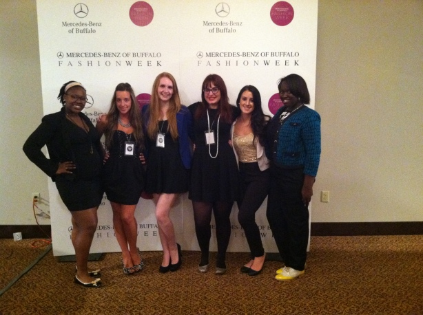 Some of the press team!, buffalo fashion week