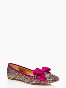 kate spade audrina flats, kate spade glitter shoes, kate spade glitter flats, kate spade pink bow flats, the best sales of black friday 2013