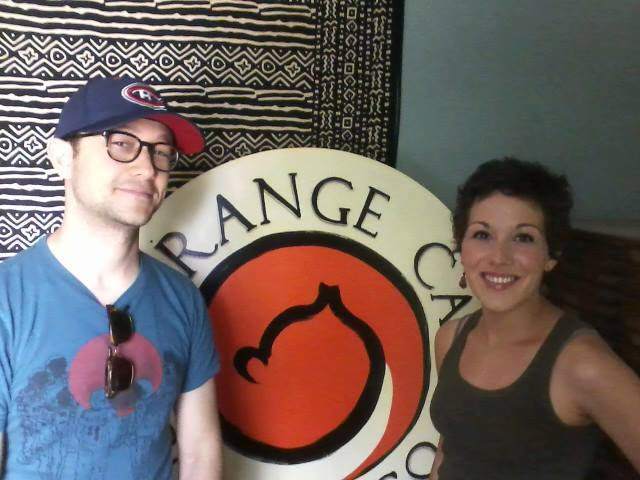 orange cat coffee co, joseph gordan levitt, lewiston ny, celebrities in lewiston ny,